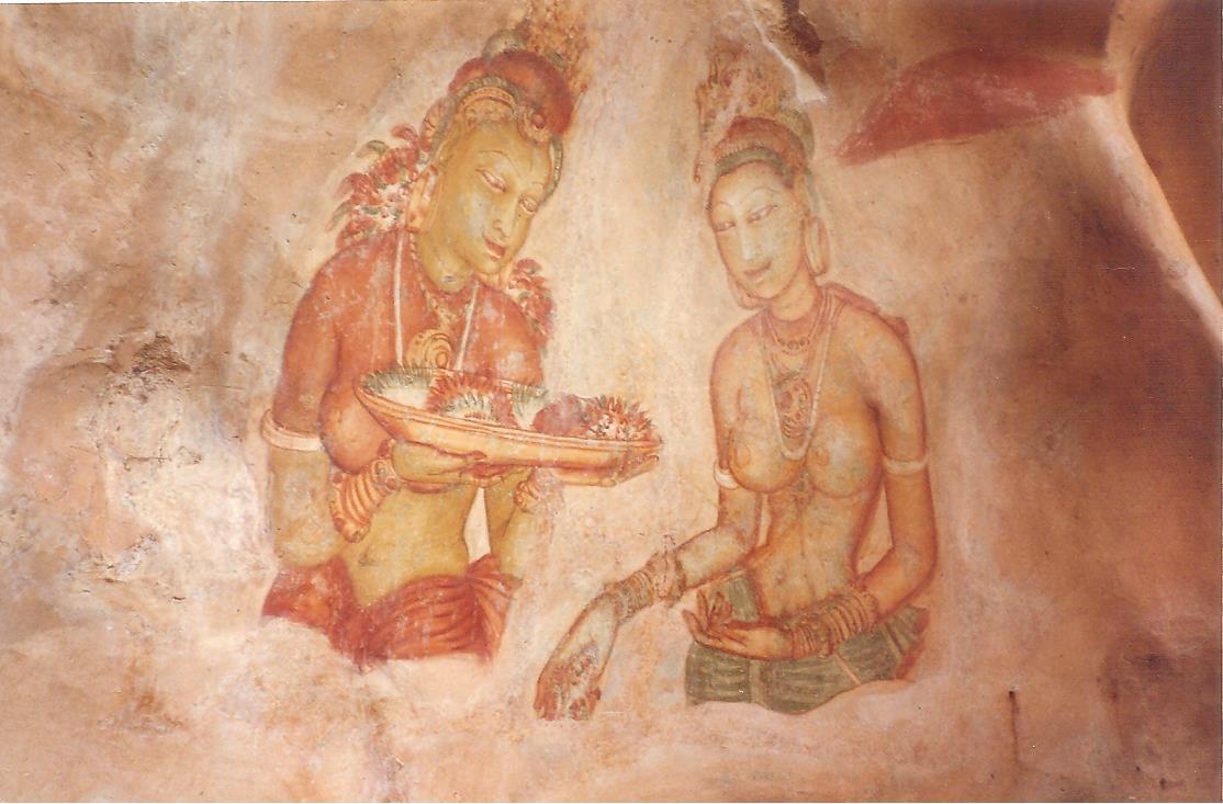 Les demoiselles de Sigiriya, Sri Lanka